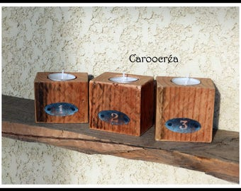 original wooden candle holders