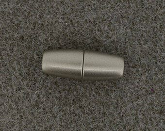 Magnetic clasp 24 x 9 mm - Ref 05801 0306 matte silver shells
