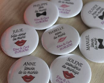 badge personalized wedding gift or trademark placed