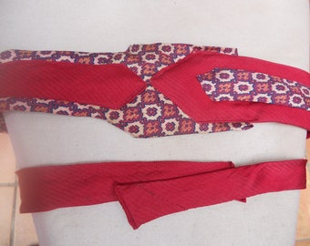 Fabric belt, made with two ties