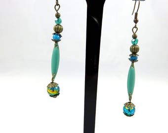 Earrings, Blue Lagoon
