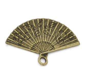 1 charm pendant antiqued bronze tone 24x17mm range