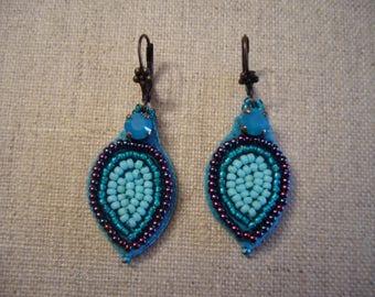 Pluma turquoise earrings