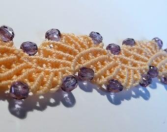 Micro-macramé lace bracelet