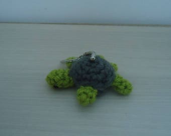 grey and green turtle keychain