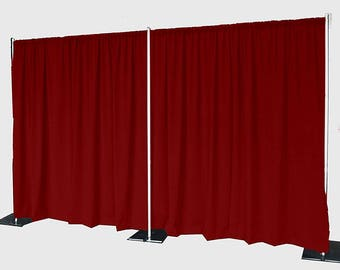 5feet x 8feet BURGUNDY Polyester Fabric Backdrop Background Drapes for Pipe and Drape