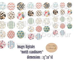 Digital Board with Scandinavian pattern 25 * 20 * 18