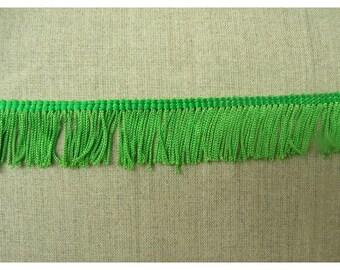 small - 5 cm - green polyester fringe