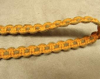 FANCY Ribbon - 1 cm - orange & Brown