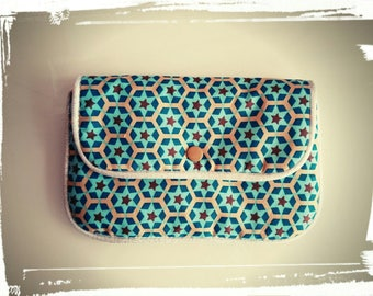 turquoise fleece pouch * for small personal belongings
