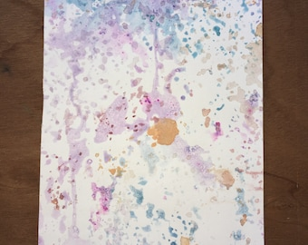 "Original abstract watercolor painting ""Seven"" (5x7)"