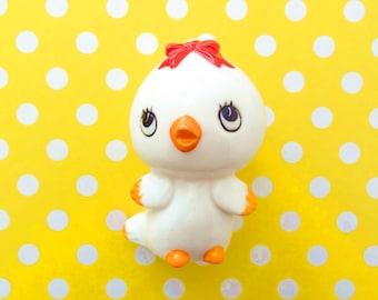 Free Delivery! Vintage Porcelain Chick Baby Chicken Figural Salt Shaker Kitsch Retro Super Cute!