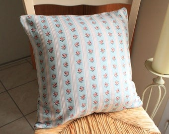 Vintage floral square pillow cover