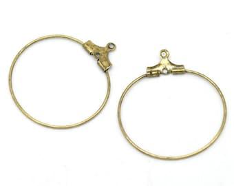 Lot 50 Anneaux créoles Bronzes 29x26mm