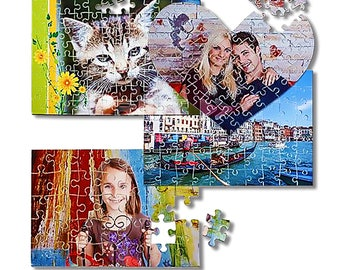192 cardboard puzzle pieces for personalization with photo
