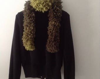 Scarf wool fur appearance