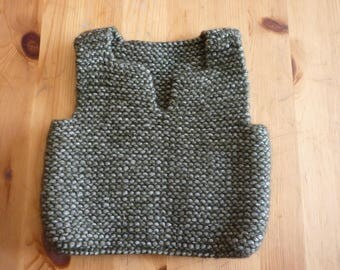 Sweater / tank top for a baby 3 months