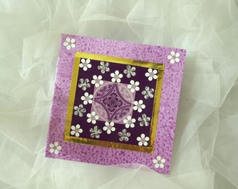 Purple baroque card for all occasions.