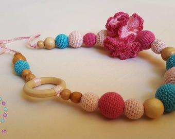 Candy/Organic Nursing Necklace/Teething Toy/Breastfeeding necklace