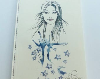 notebook notes lined girl forever blue stars 40 sheets