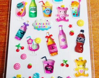 ice cream soda juice drink stickers