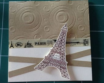 eiffel tower Paris wedding invitation