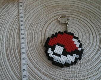 Pokeball from Pokemon Keychain pixel art