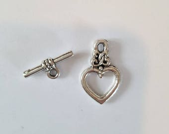 Jewelry 21mmx13mm heart Toggle clasp