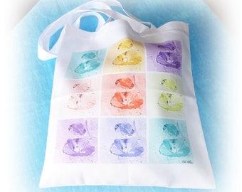 Tote bag multicolored Céline Photos Art Nature poppy or shopping bag