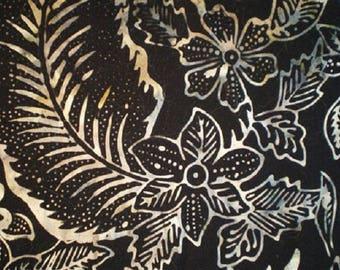 batik patchwork fabric wide 260 cm black/white