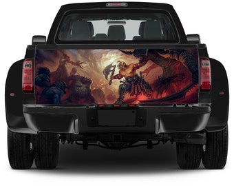 Truck Tailgate Graphics Diablo Inferno Vinyl Decal Full Color Sticker Trunk Wrap