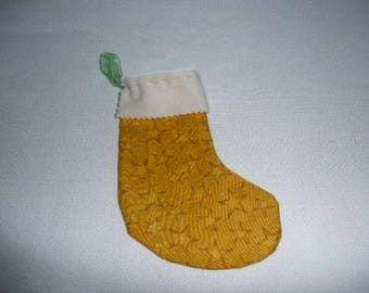 small yellow boot Christmas Decor