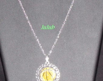 "Necklace mid-length ""basketball"" collection"