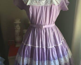 Purple Square Dance Dress