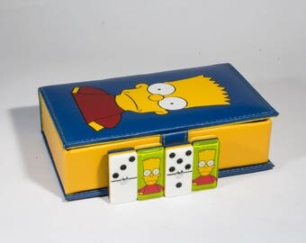 Bart Simpson Domino 100% Acrylic, Faux Leather Case
