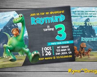 Good Dinosaur Invitation, Good Dinosaur Birthday Party, 5x7 Printable Card, Birthday Invitation, Birthday Card, Good Dinosaur Party