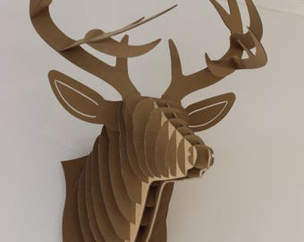 Big Buck cardboard 3D deer head