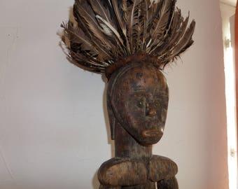 Splendid statue Byeri Fang - Gabon