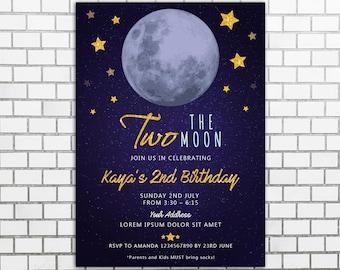 Moon invitation | Etsy