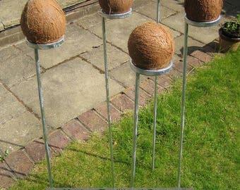 Set of 5 coconut shy posts