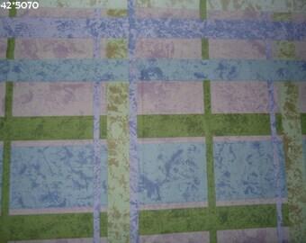 Fabric coupon printed blue/purple/green 50 * 70cm [ref 042 * 5070]