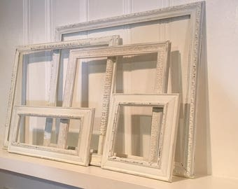 Vintage Frame Collection - Wall Gallery- Shabby Chic Frames - Nursery Decor