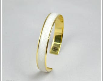 Inka beige Maria 24K gold plated Bangle Bracelet