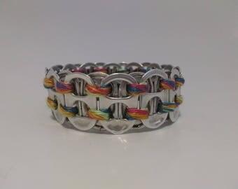 Rainbow Ring-pull Bracelet (Medium)