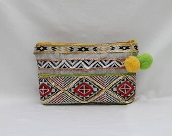 NEW! Ethnic makeup of cotton with pattern style Peruvians, glitter and a tassel