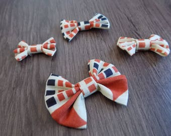 set of four fabric bows