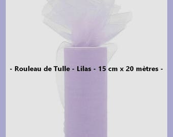 Tulle - Color lilac - 15 cm wide x 20 meters - new