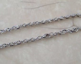 silver metal chain 74cm