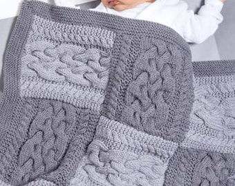 100% baby cotton knitted blanket