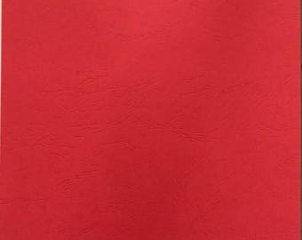 Hardback A4 for effect grain red leather binding